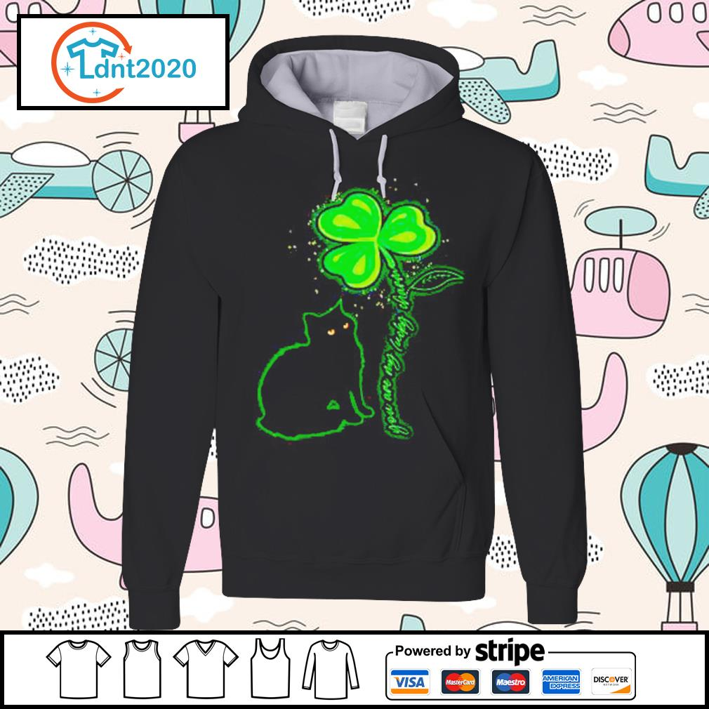 St Patrick's Day Black Cat My Lucky Charm s hoodie