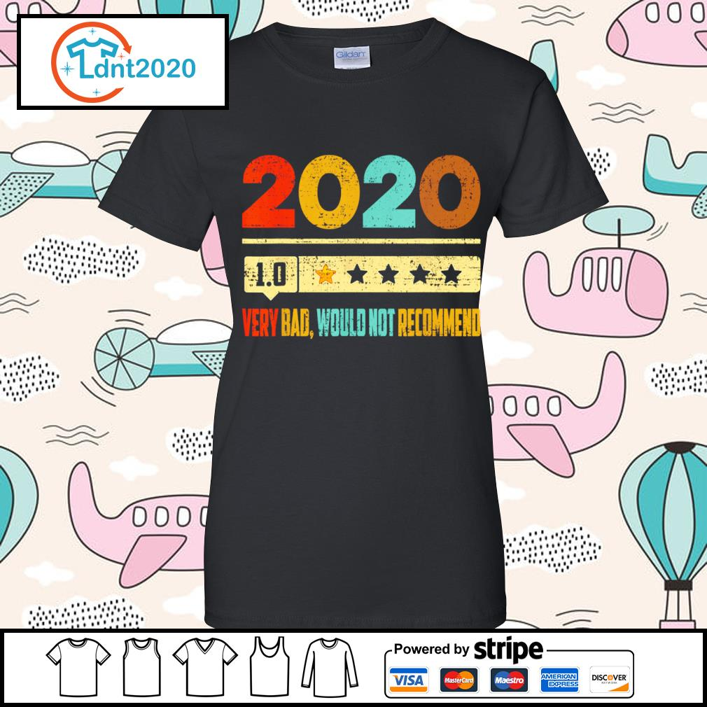 2020 1.0 very bad would not recommend vintage s ladies-tee