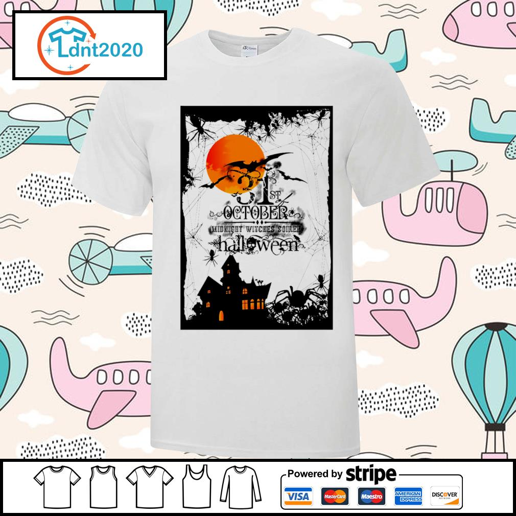 31st October midnight witches soiree Halloween shirt