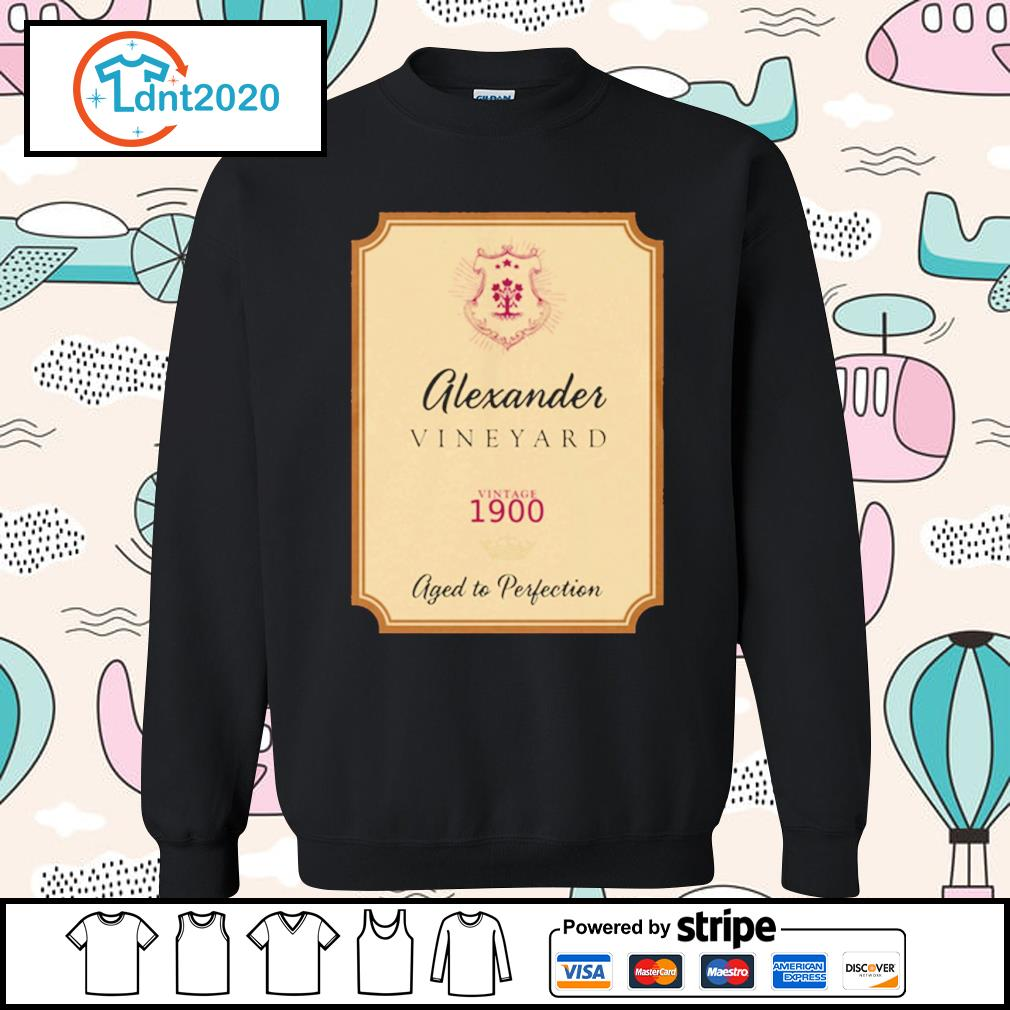 Alexander Vineyard vintage 1900 aged to perfection s sweater