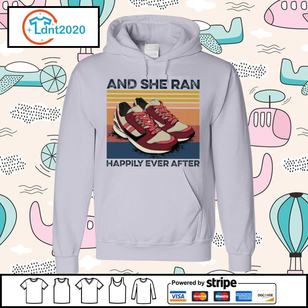 And she ran happily ever after vintage s hoodie