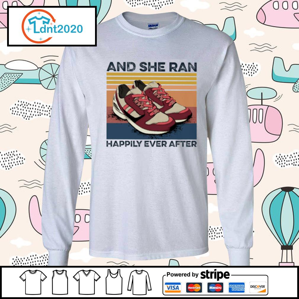 And she ran happily ever after vintage s longsleeve-tee
