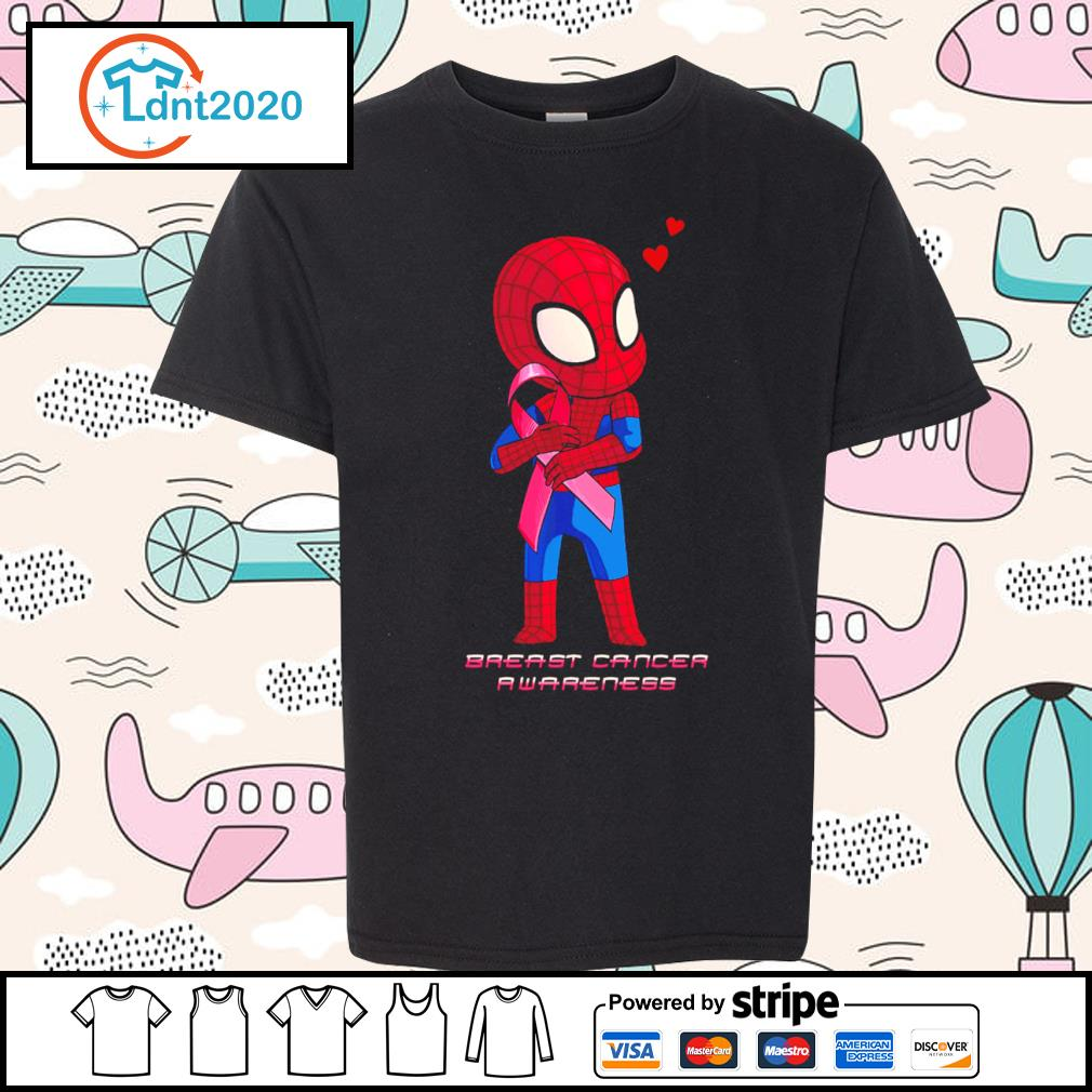Baby Spiderman Breast Cancer Awareness s youth-tee