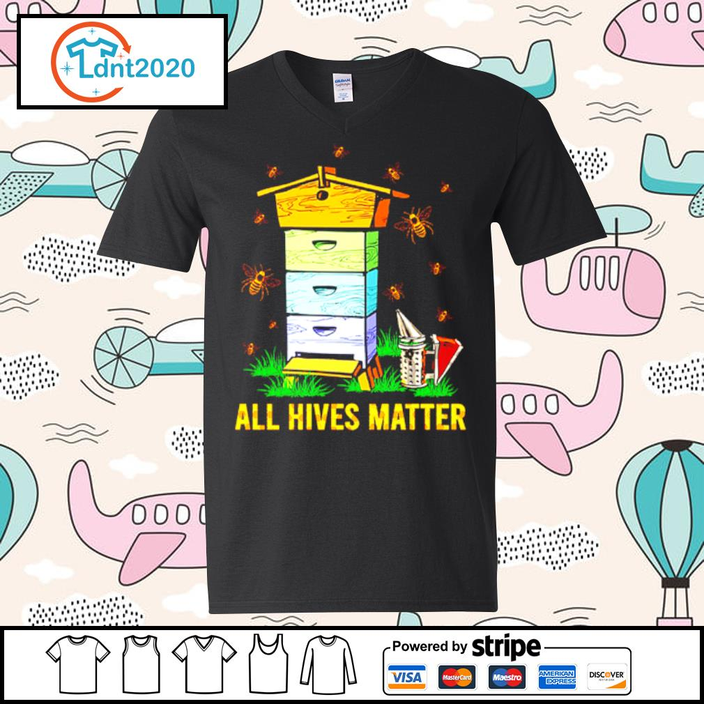 Bee and home all hives matter s v-neck-t-shirt