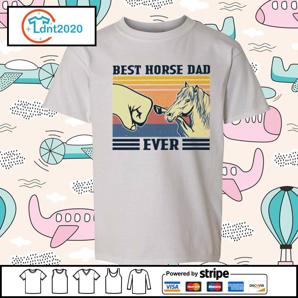 Best horse dad ever vintage s youth-tee