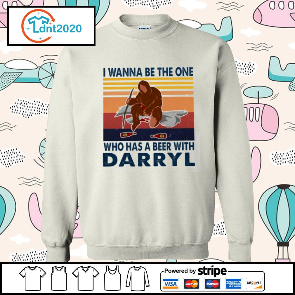 Bigfoot I wanna be the one who has a beer with Darryl vintage s sweater