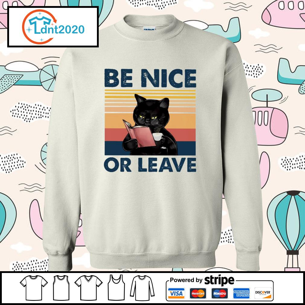 Black cat be nice or leave s sweater