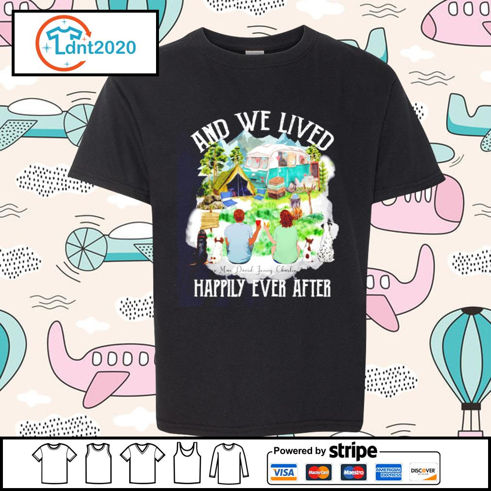 Camping dogs and cat and we lived happily ever after s youth-tee