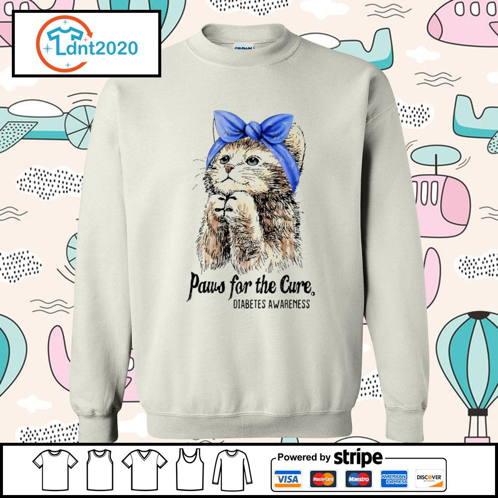 Cat paws for the cure diabetes awareness s sweater