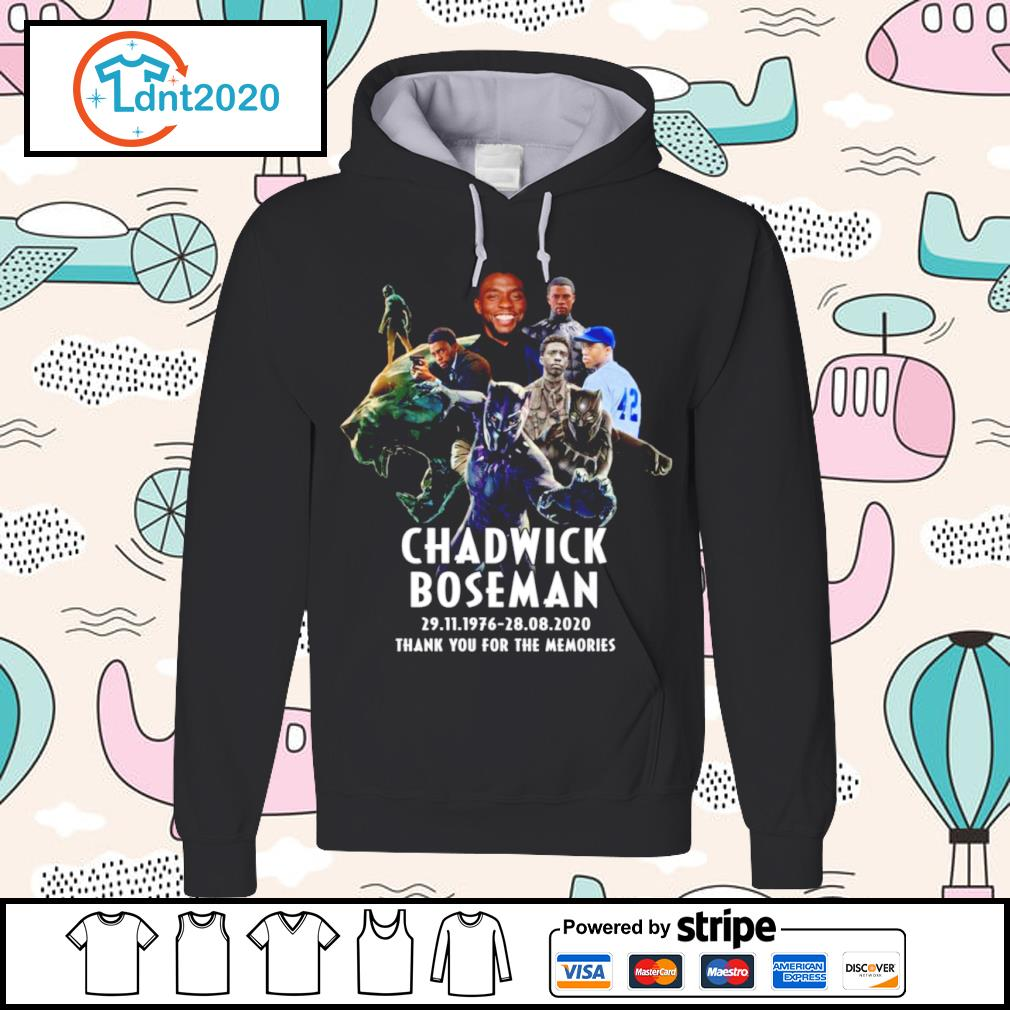 Chadwick Boseman 29.11.1976 28.08.2020 thank you for the memories s hoodie