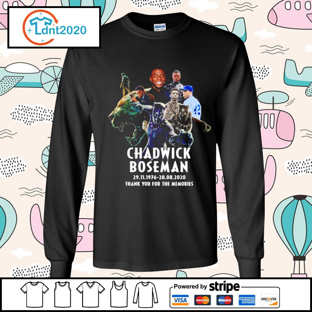 Chadwick Boseman 29.11.1976 28.08.2020 thank you for the memories s longsleeve-tee