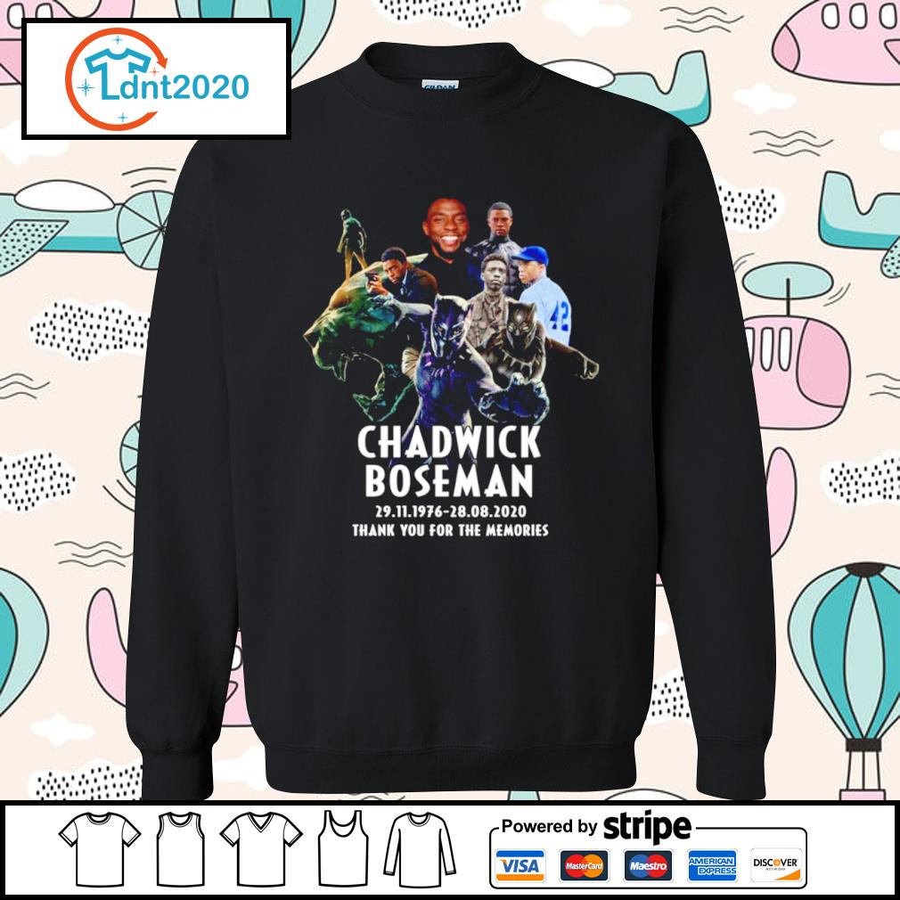 Chadwick Boseman 29.11.1976 28.08.2020 thank you for the memories s sweater