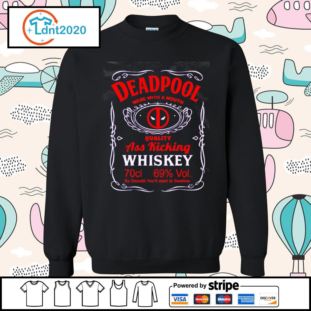 Deadpool merc with a mouth quality ass kicking Whiskey s sweater