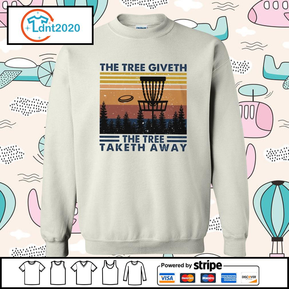 Disc golf hit the tree giveth the tree taketh away vintage s sweater