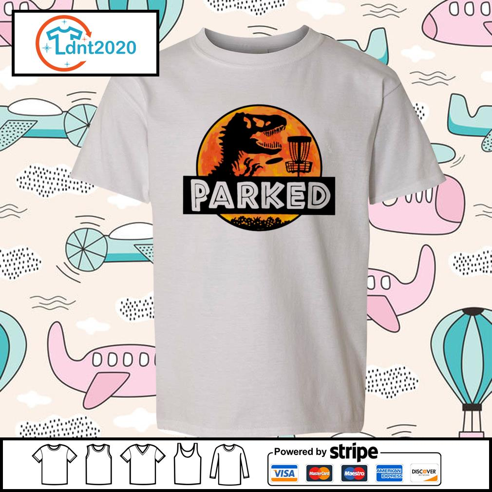 Disc golf T-rex parked s youth-tee
