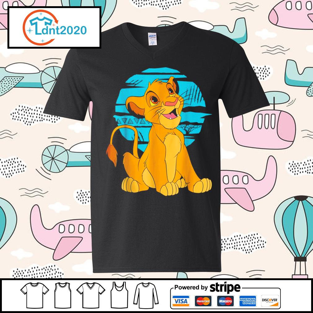 Disney The Lion King young Simba happy s v-neck-t-shirt