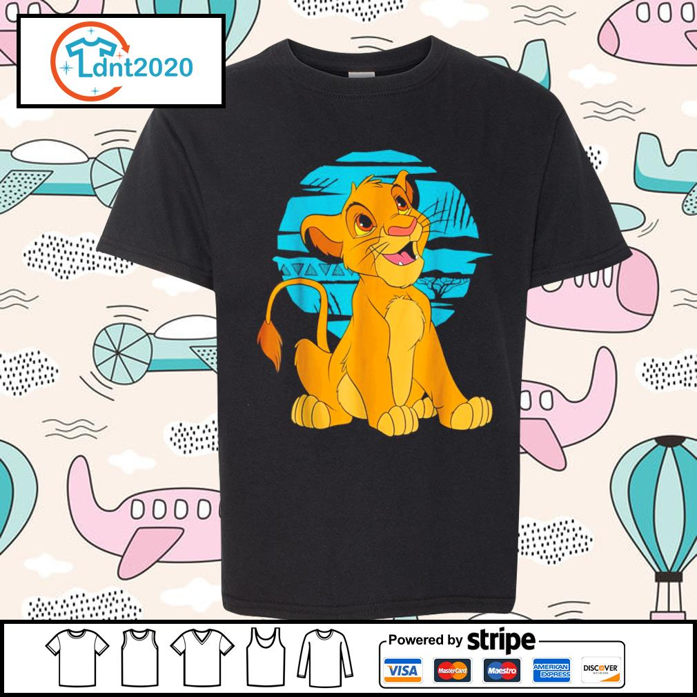 Disney The Lion King young Simba happy s youth-tee