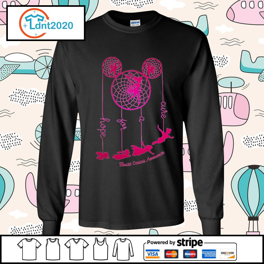 Dreamcatcher Peter Pan hope for a cure Breast Cancer Awareness s longsleeve-tee