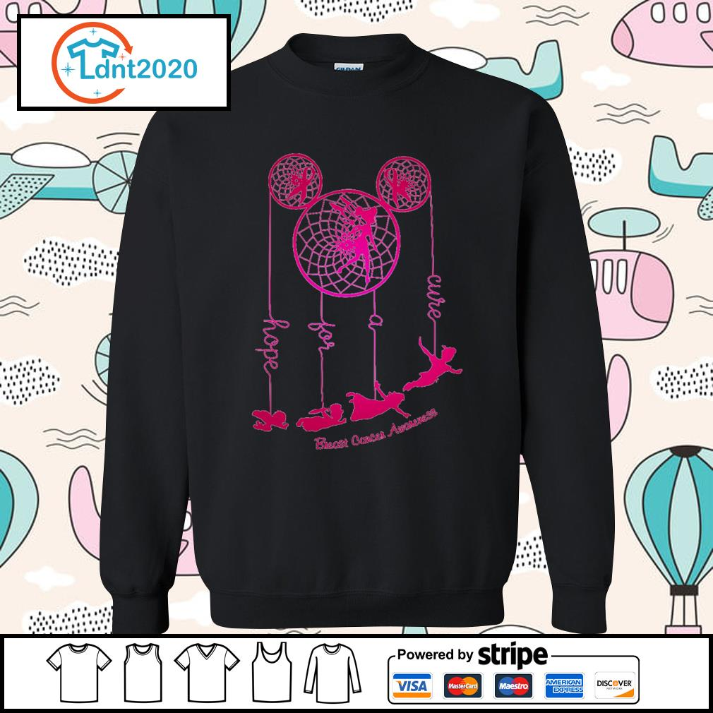Dreamcatcher Peter Pan hope for a cure Breast Cancer Awareness s sweater
