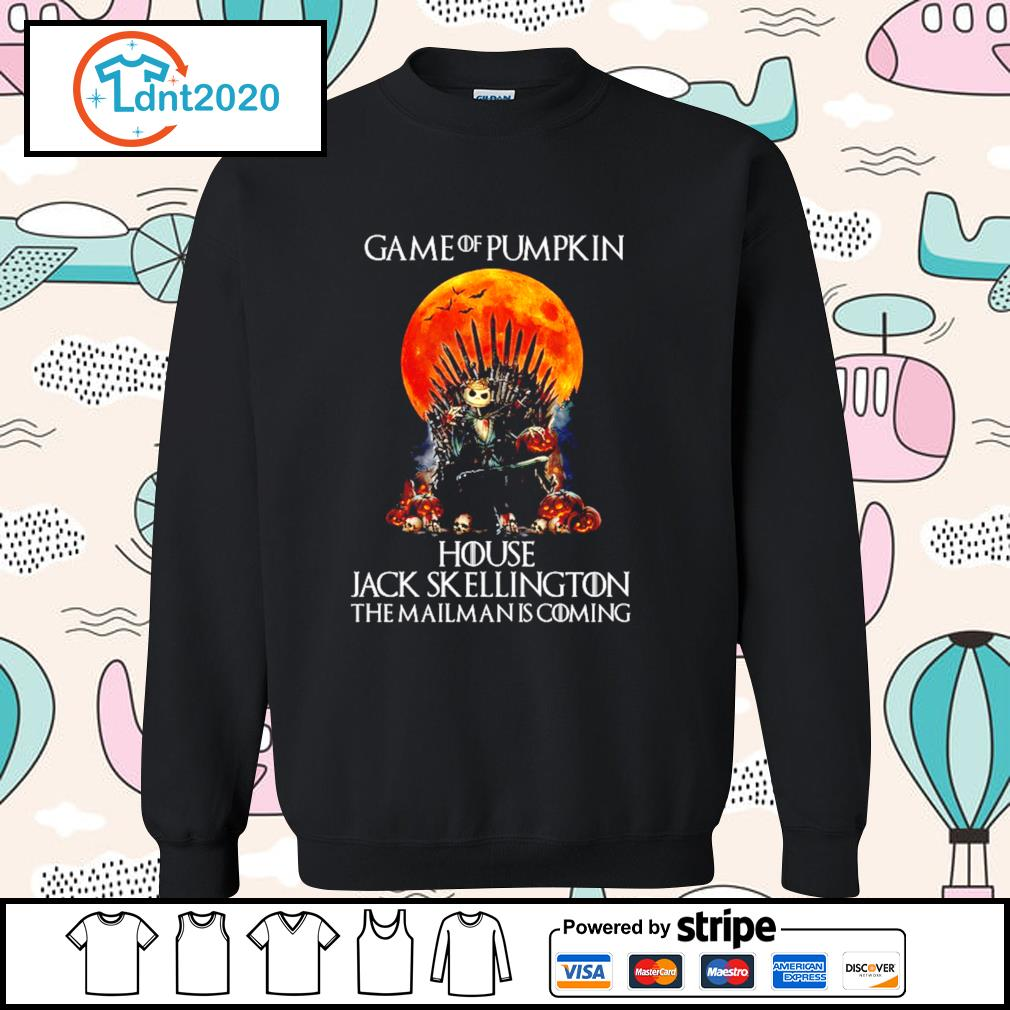 Game of Pumpkin house Jack Skellington the mailman is coming Halloween s sweater