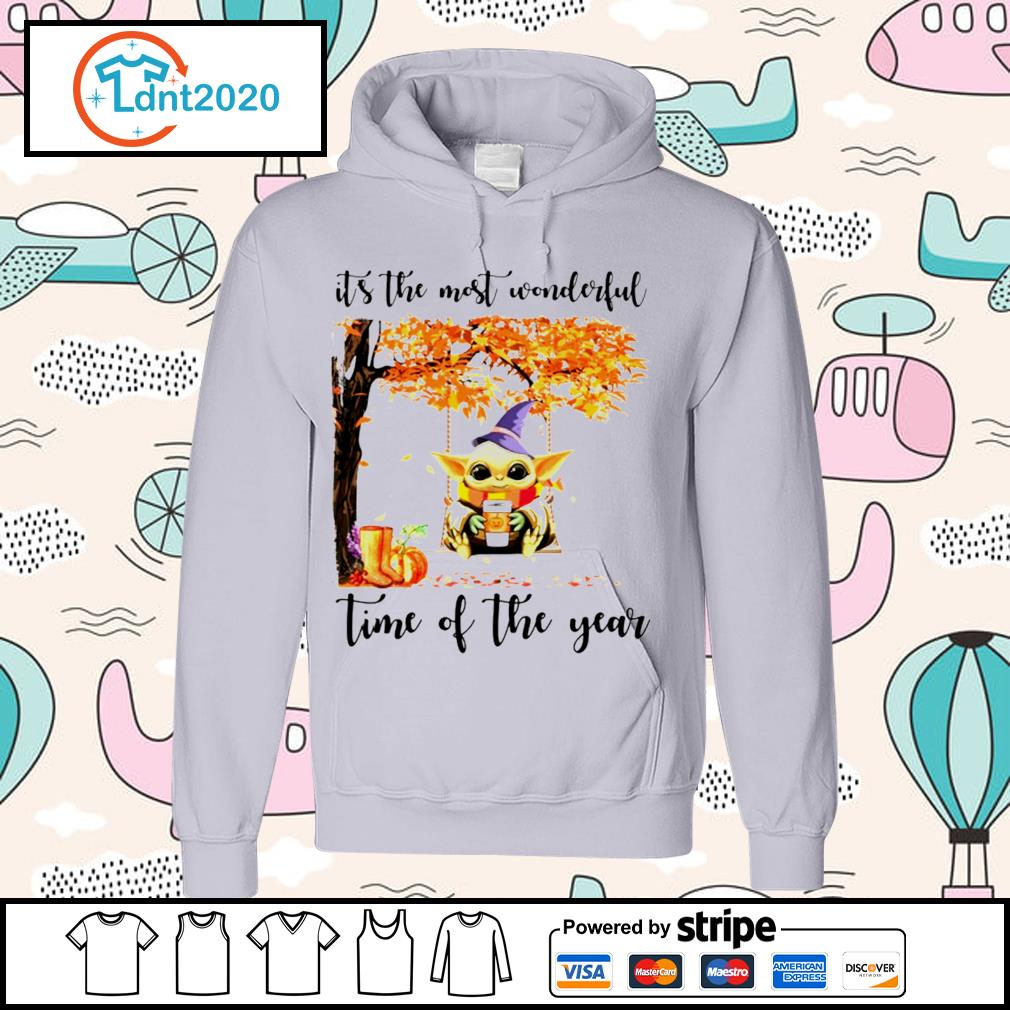 Halloween autumn Baby Yoda it's the most wonderful time of the year s hoodie