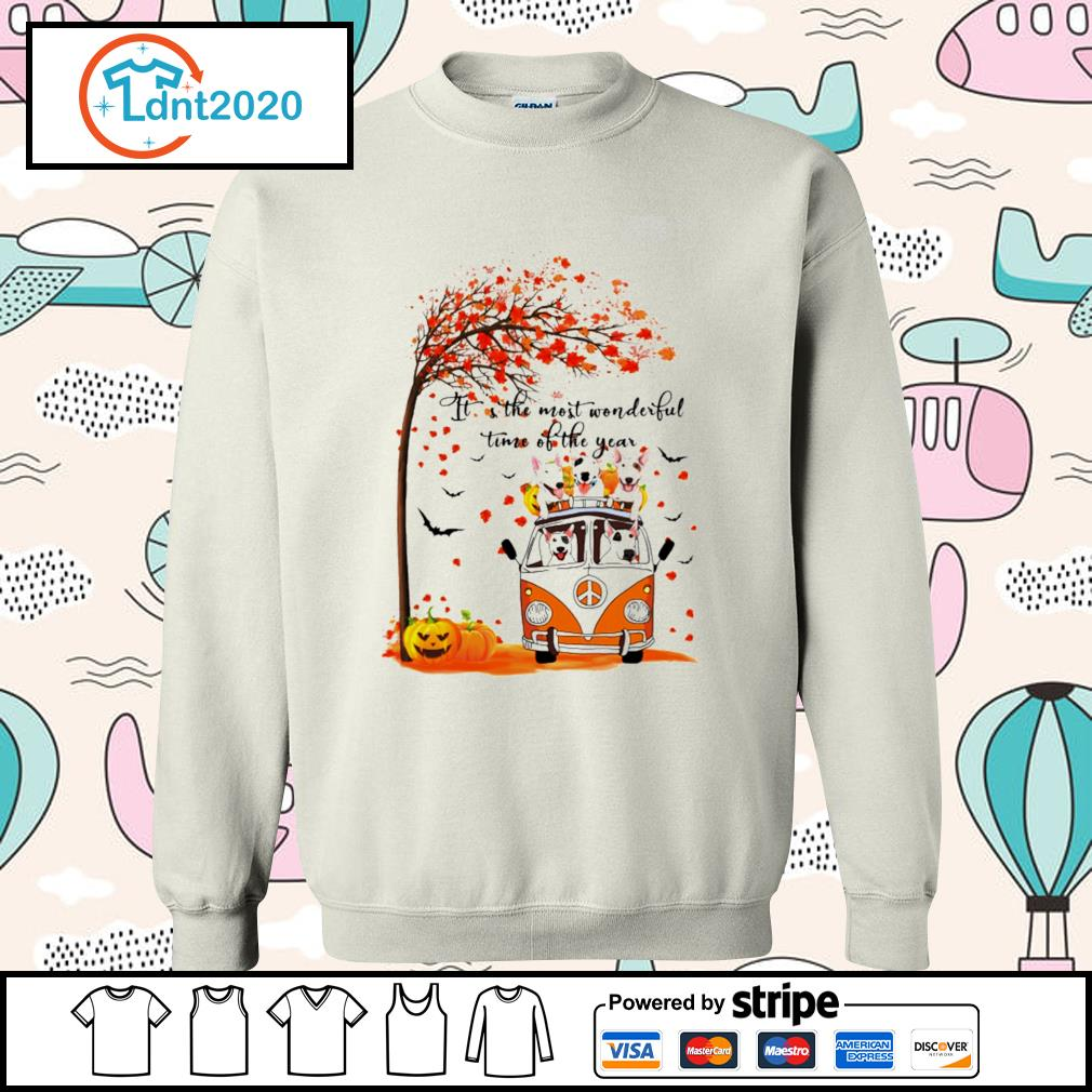Halloween autumn Bull Terrier it's the most wonderful time of the year s sweater
