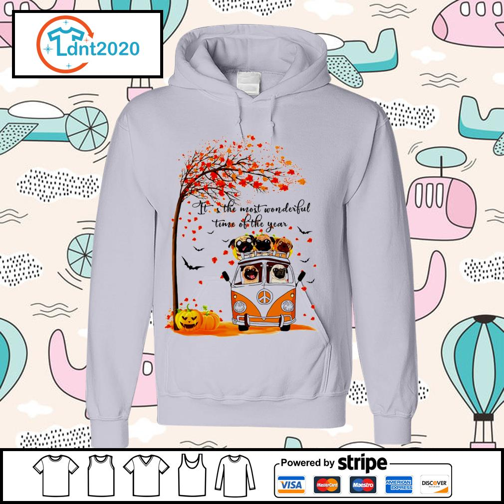 Halloween autumn Pitbull it's the most wonderful time of the year s hoodie