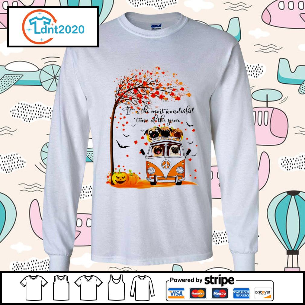 Halloween autumn Pitbull it's the most wonderful time of the year s longsleeve-tee