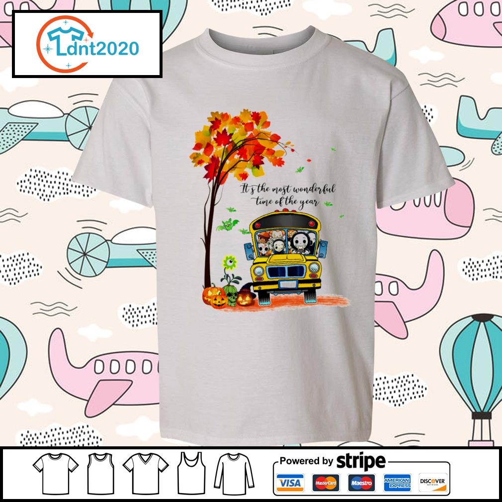 Halloween horror movies characters school bus it's the most wonderful time of the year s youth-tee