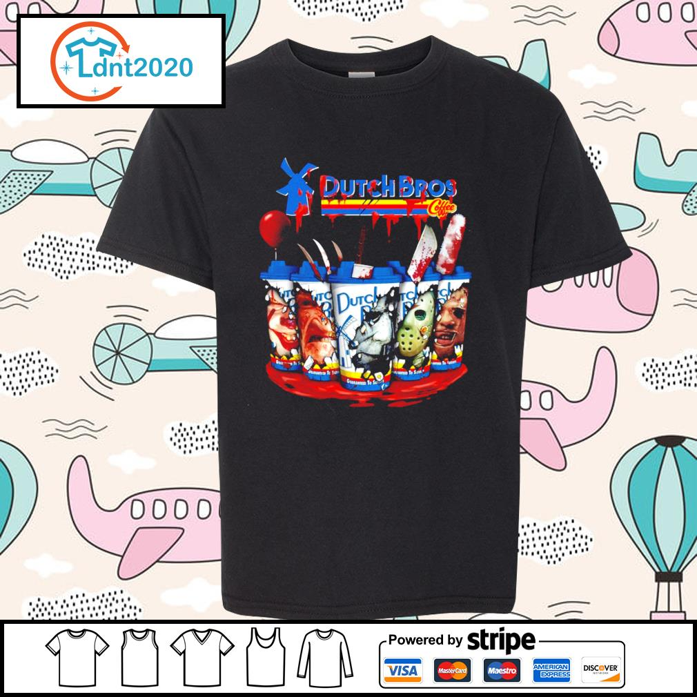 Horror character movie Dutch Bros coffee s youth-tee