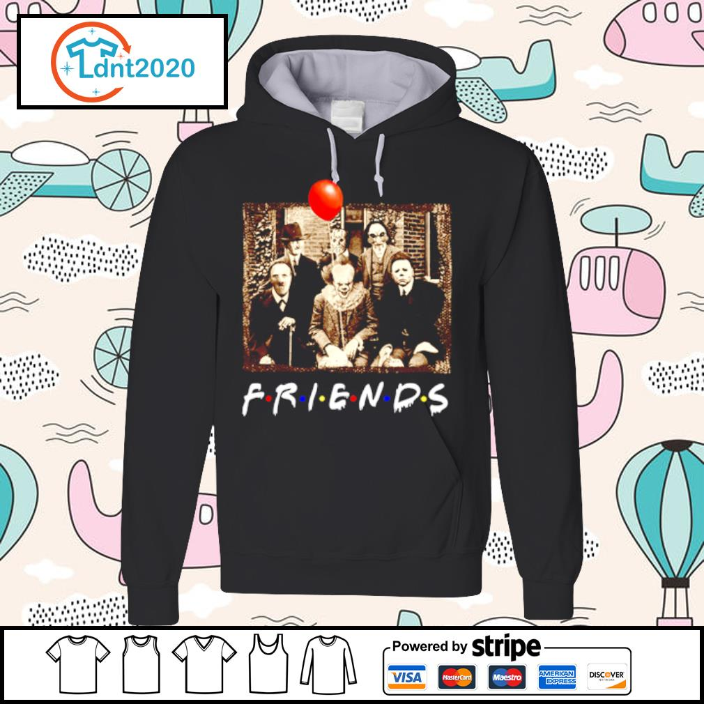 Horror movie characters Friends TV show s hoodie