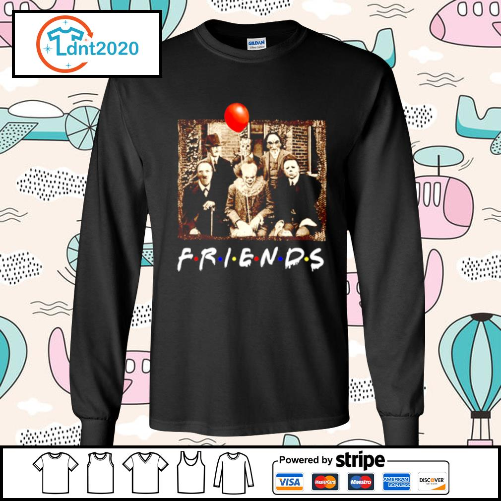 Horror movie characters Friends TV show s longsleeve-tee