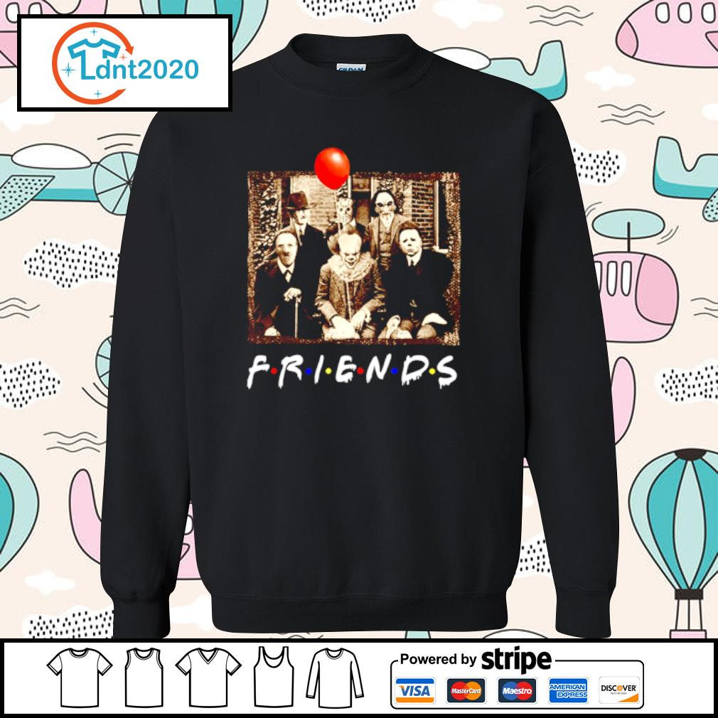 Horror movie characters Friends TV show s sweater