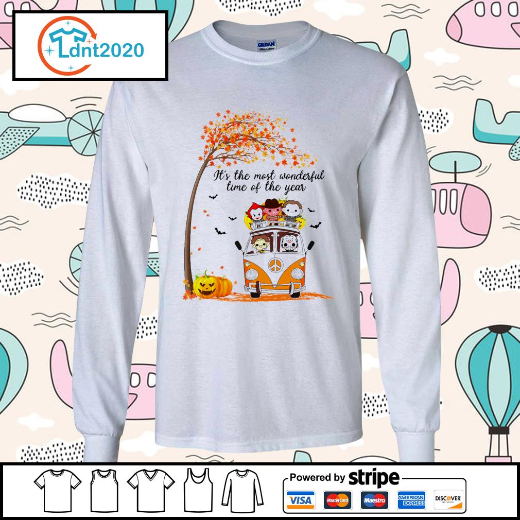 Horror Movies Character It_s the most wonderful time of the year Halloween s longsleeve-tee