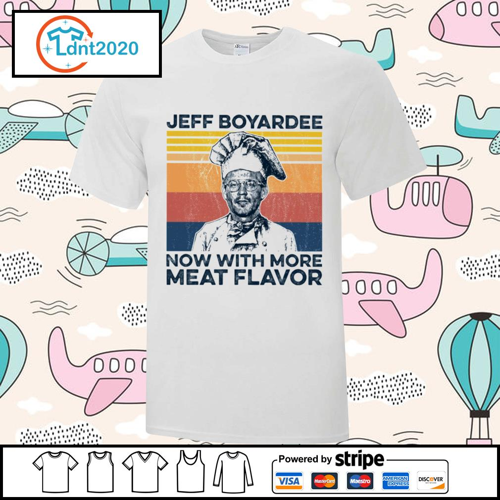 Jeff Boyardee now with more meat flavor vintage shirt