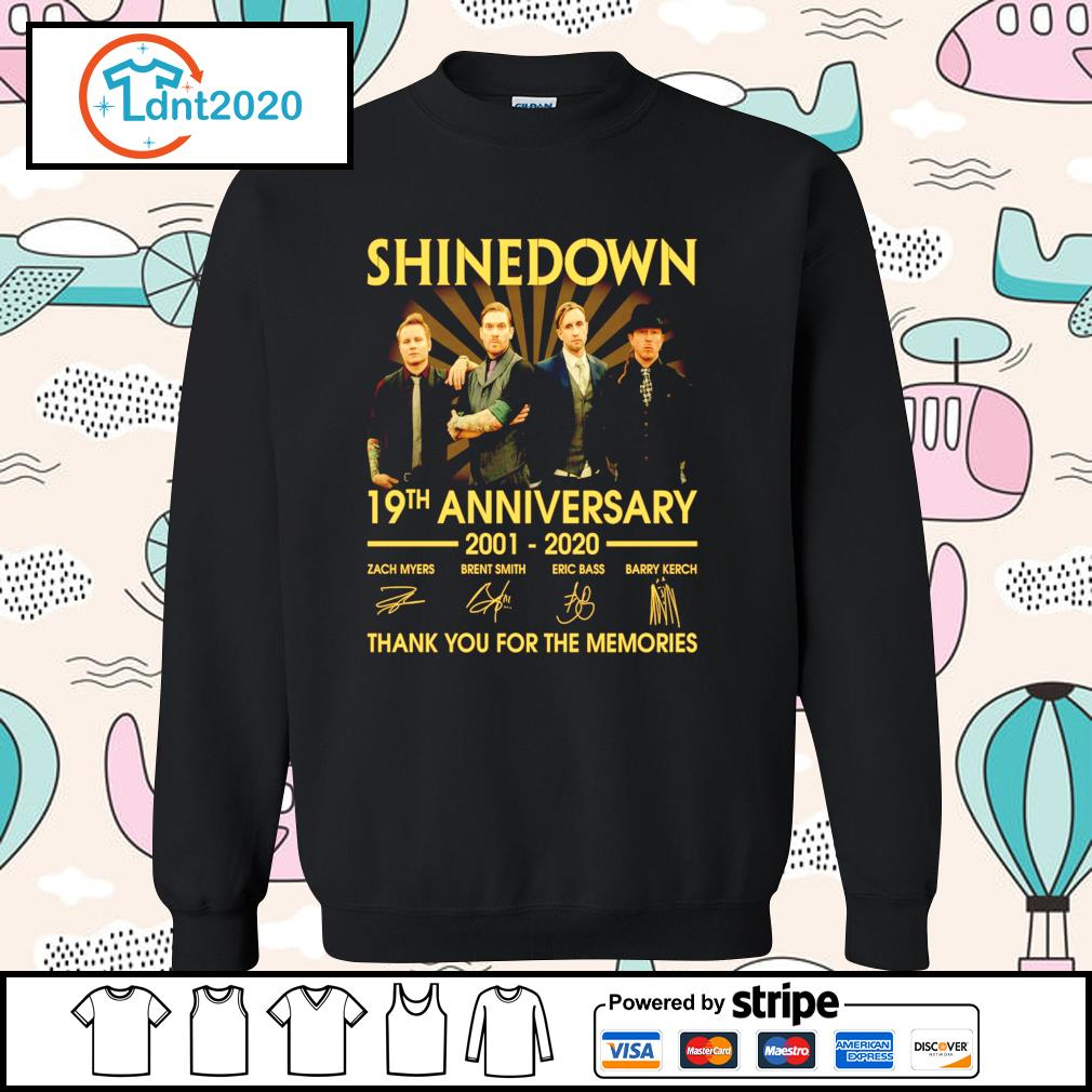 Shinedown 19th anniversary 2001 2020 thank you for the memories s sweater