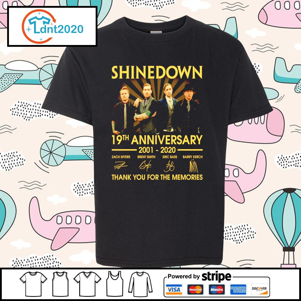 Shinedown 19th anniversary 2001 2020 thank you for the memories s youth-tee