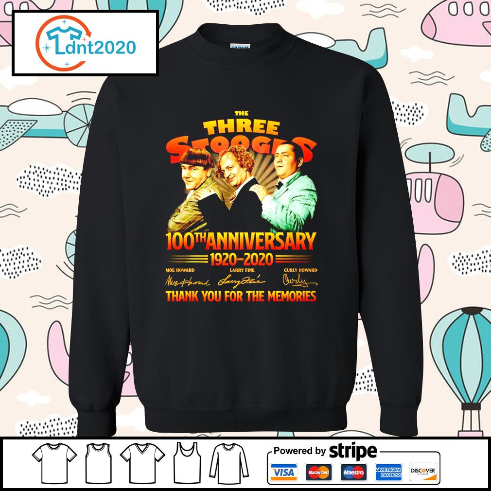 The Three Stooges 100th anniverary 1920 2020 thank you for the memories s sweater