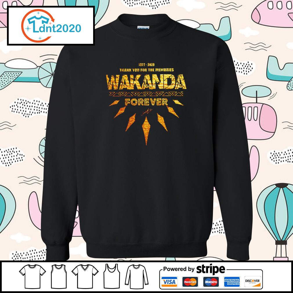 1977-2020 thank you for the memories Wakanda Forever s sweater