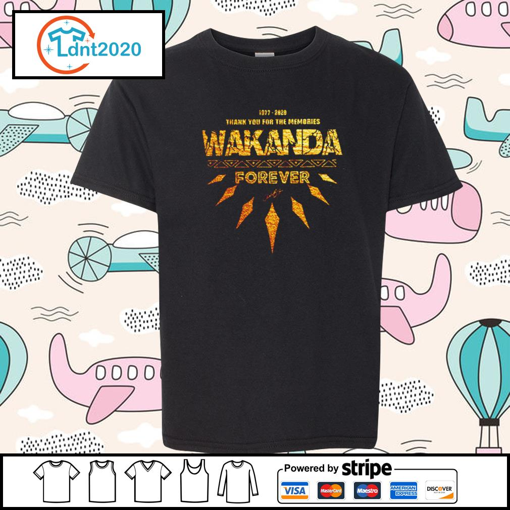 1977-2020 thank you for the memories Wakanda Forever s youth-tee