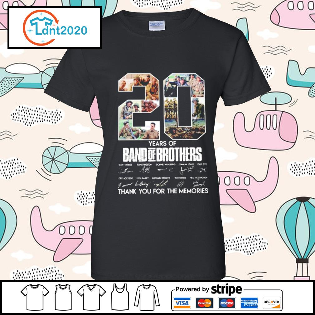 20 years of Band Of Brothers thank you for the memories s ladies-tee