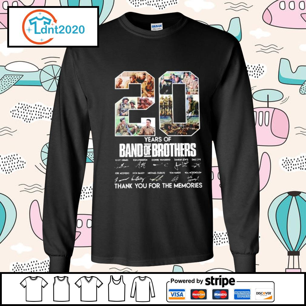 20 years of Band Of Brothers thank you for the memories s longsleeve-tee