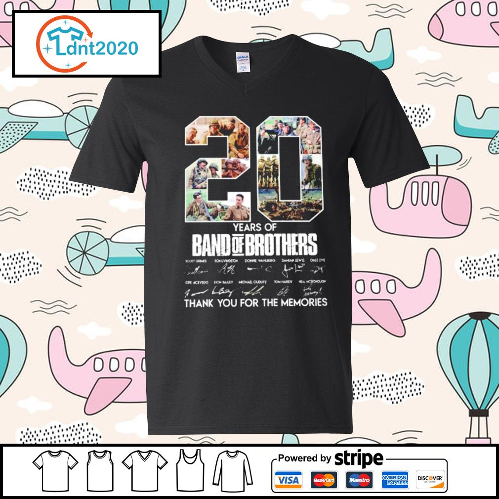 20 years of Band Of Brothers thank you for the memories s v-neck-t-shirt