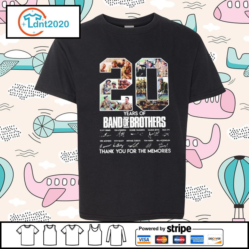 20 years of Band Of Brothers thank you for the memories s youth-tee