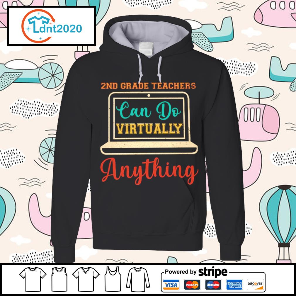 2nd grade can do virtually anything vintage s hoodie