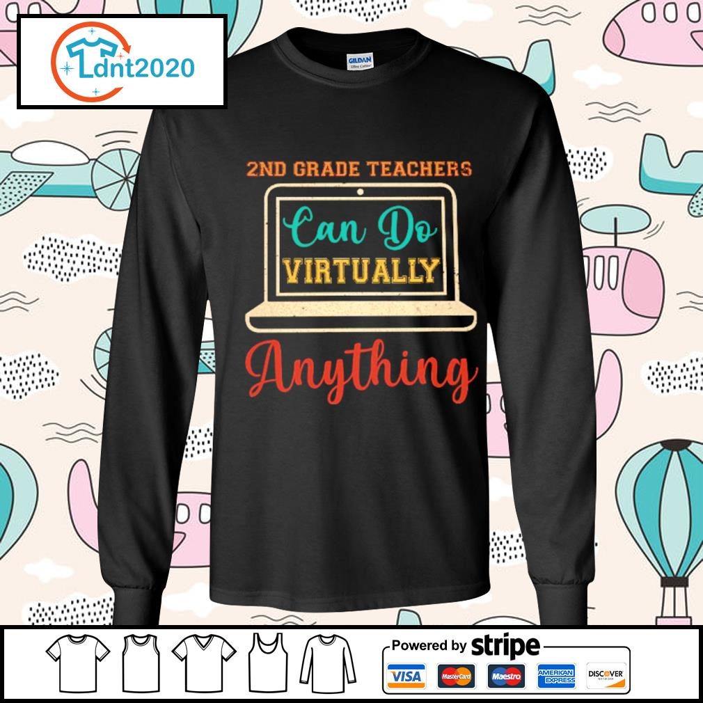 2nd grade can do virtually anything vintage s longsleeve-tee