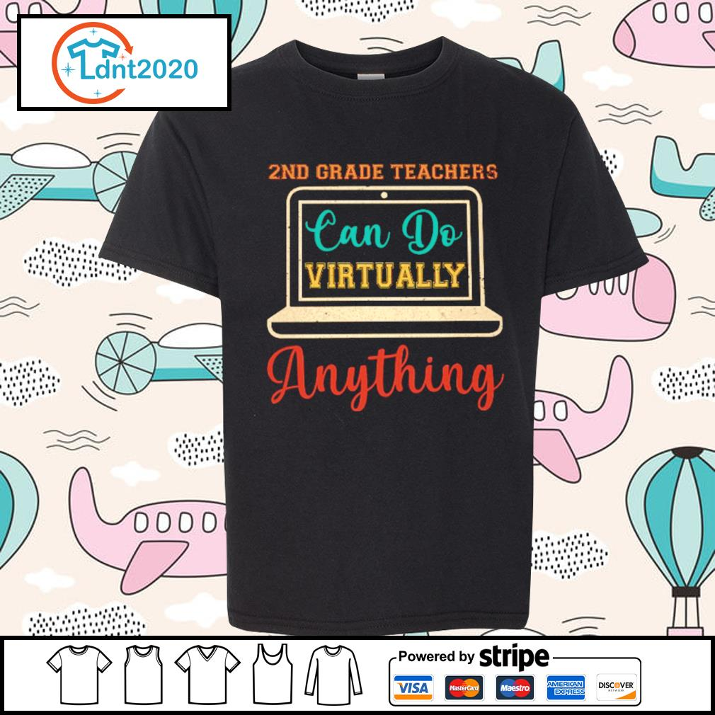2nd grade can do virtually anything vintage s youth-tee