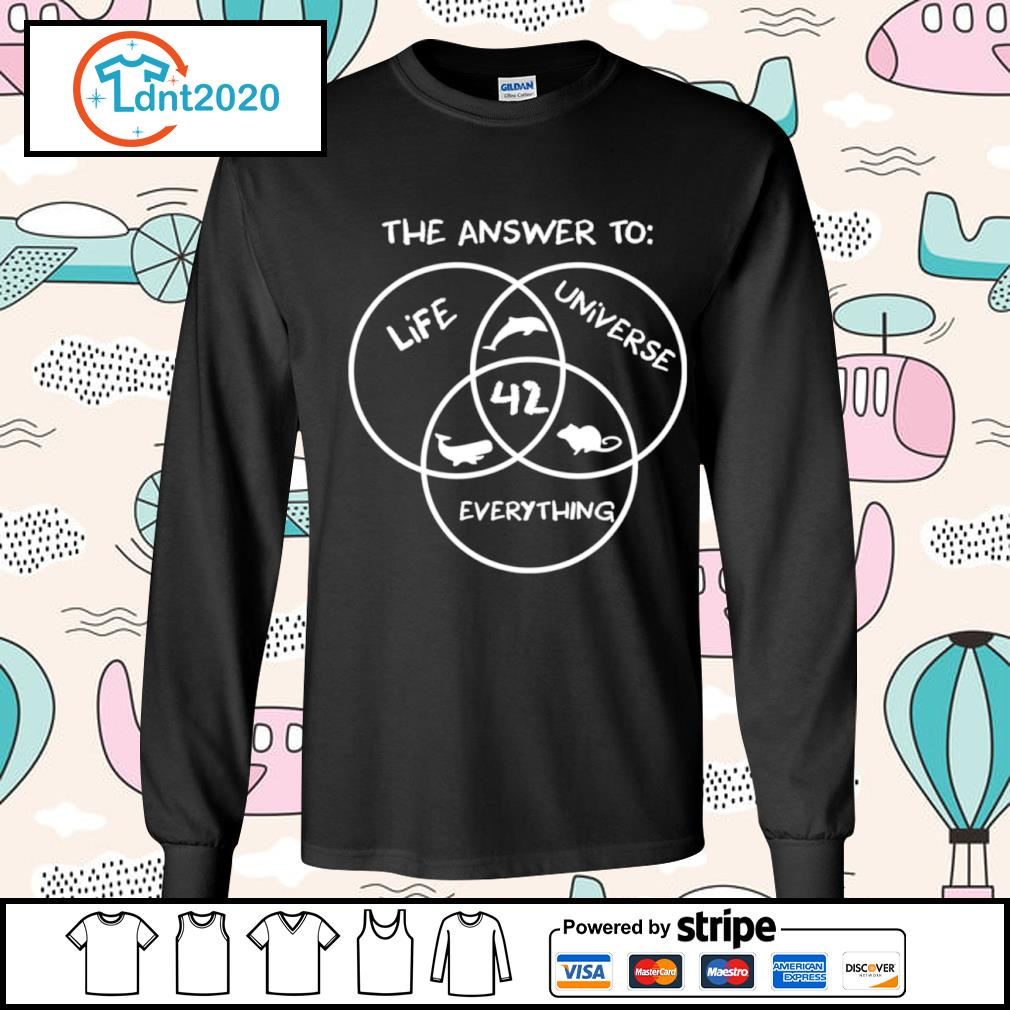 42 The answer to life universe everything s longsleeve-tee