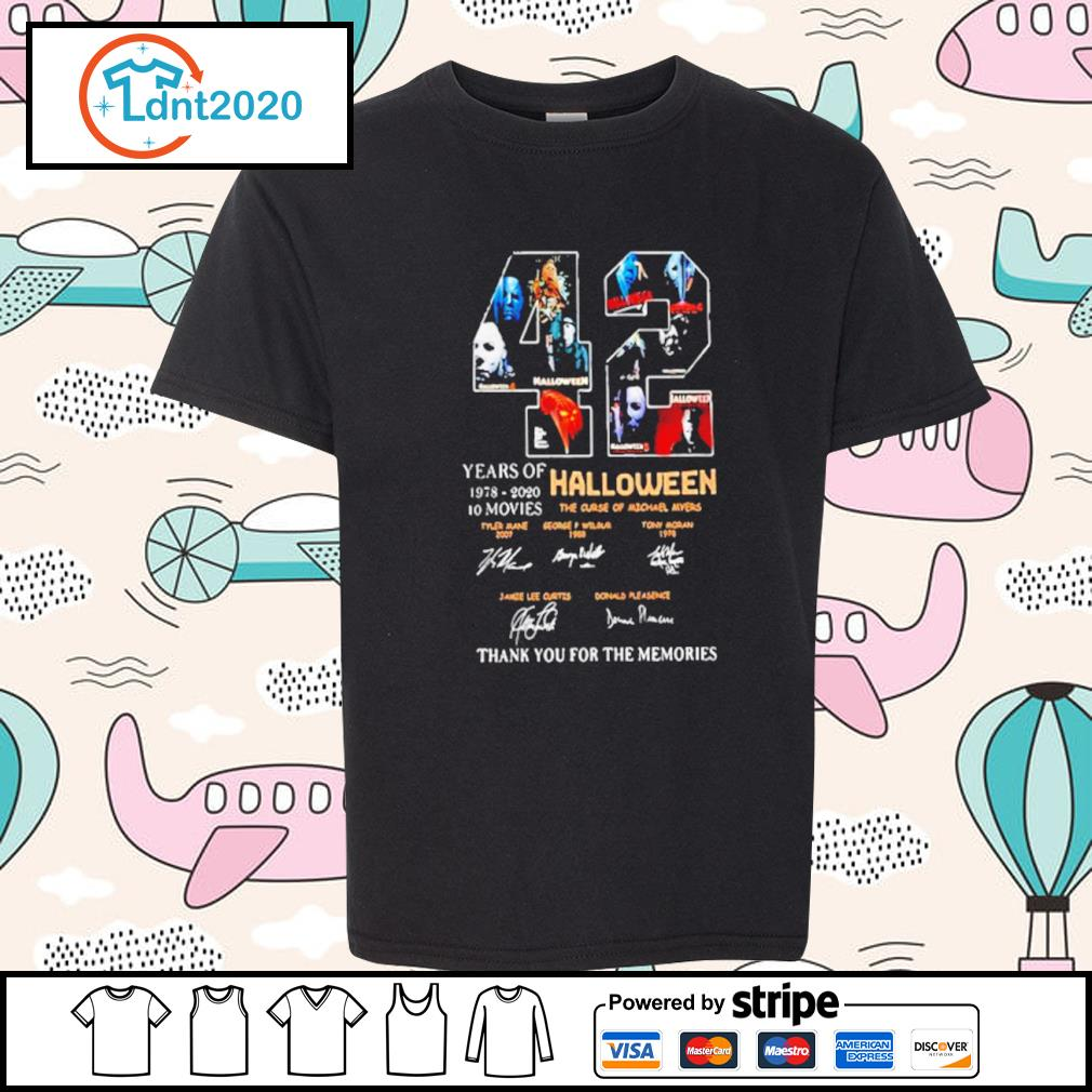42 years if Halloween 1978 2020 10 movies thank you for the memories s youth-tee