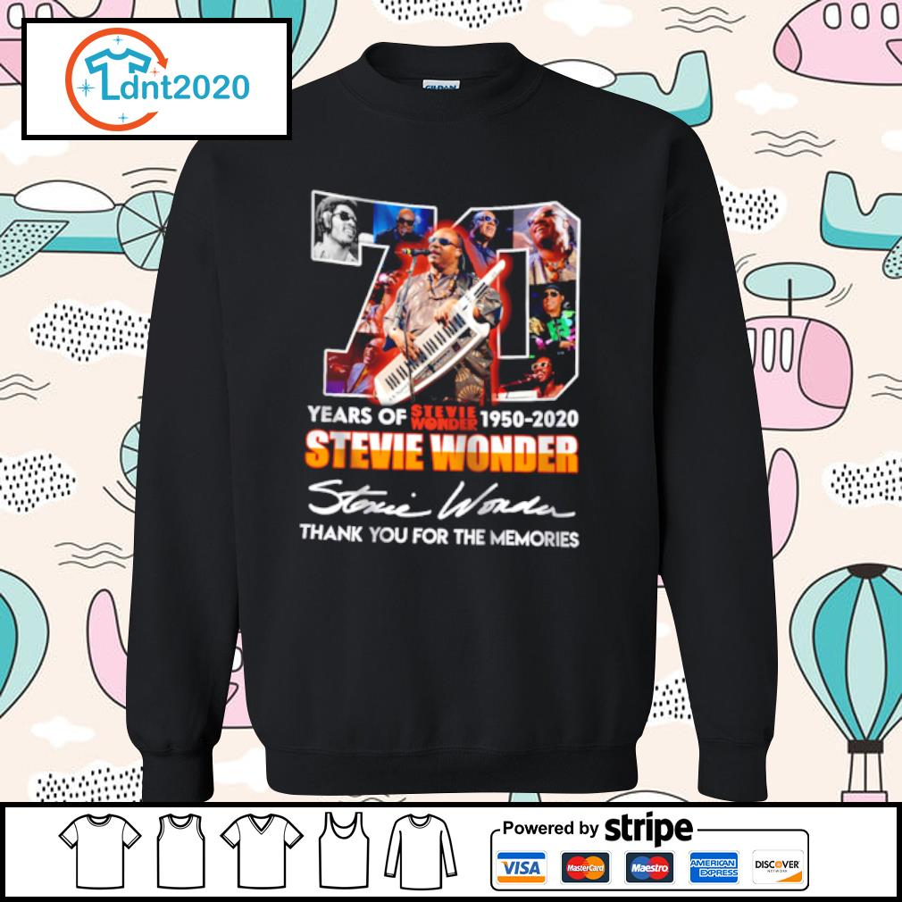 70 years of stevie wonder 1950-2020 stevie wonder thank you for the memories s sweater